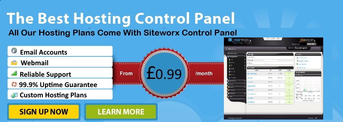 Siteworx Control Panel is the most popular web hosting control panel